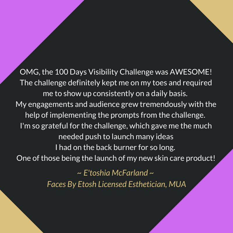Testimonial from E'toshia McFarland