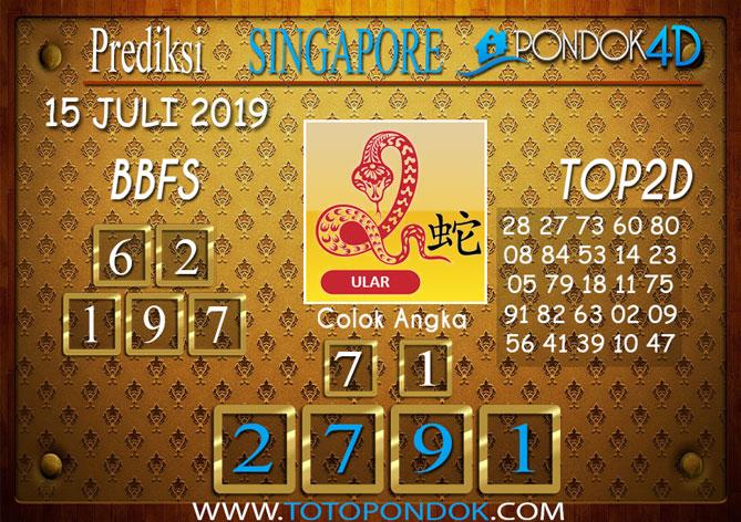 Prediksi Togel SINGAPORE PONDOK4D 15 JULI 2019