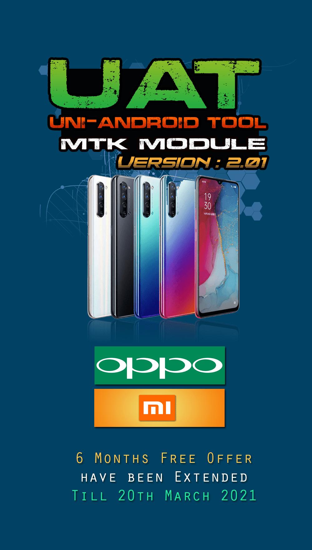 Uni-Android Tool UAT MTK Module Ver. 2.01 [28th Feb. 2021]