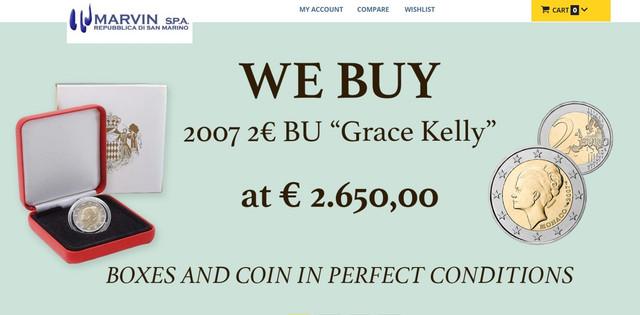 "Evolucion de la moneda 2 euros Mónaco 2007 ""La Kelly"" - Página 2 Grace-Marvin"