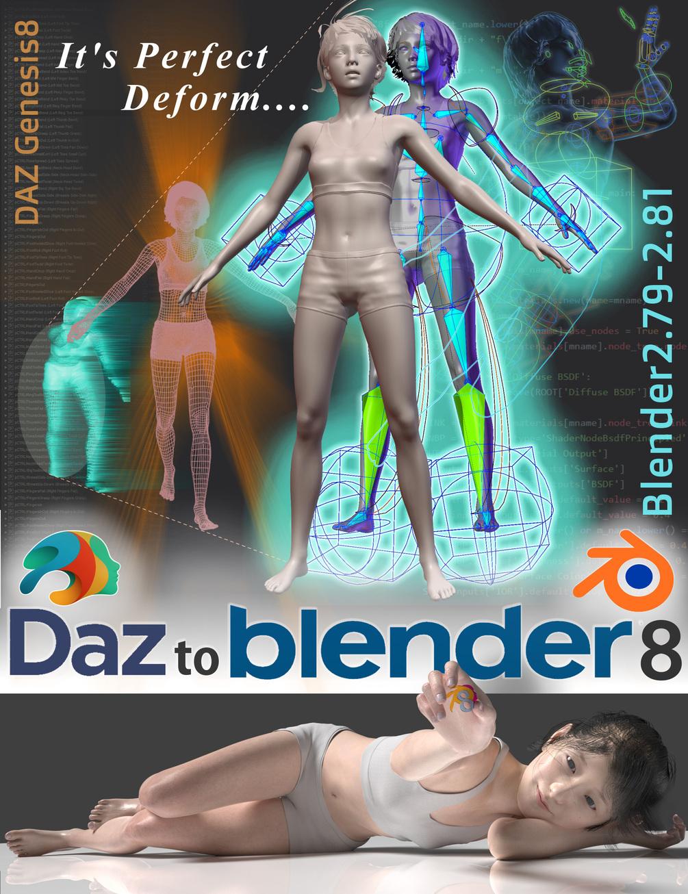 DaztoBlender8 v1.8