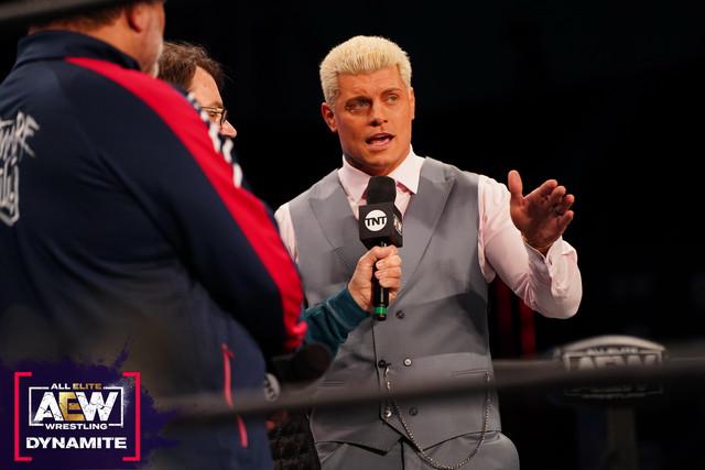 Shaquille O'Neal retó a Cody Rhodes AEW 27 de enero
