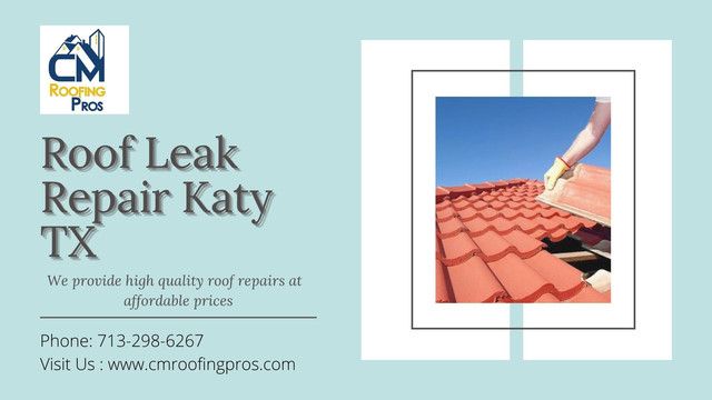 Looking for professional roof leak repair specialists in Katy, TX? CM Roofing Pros has the professionals your roof needs to keep things protected!