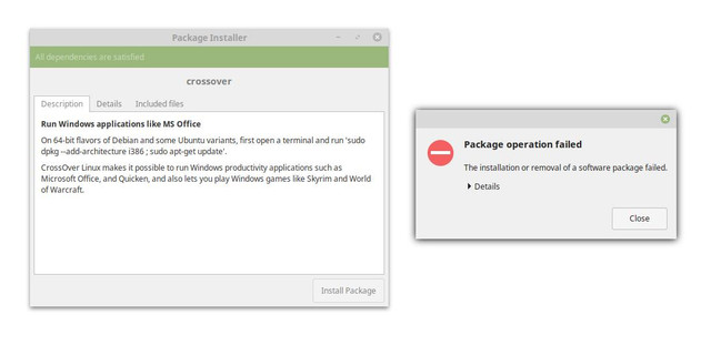 CrossOver Linux installation problem [SOLVED] - Linux Mint