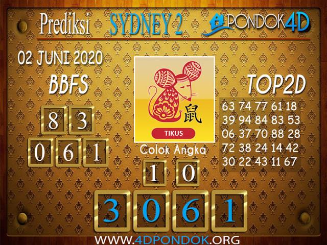 Prediksi Togel SYDNEY 2 PONDOK4D 02 JUNI 2020