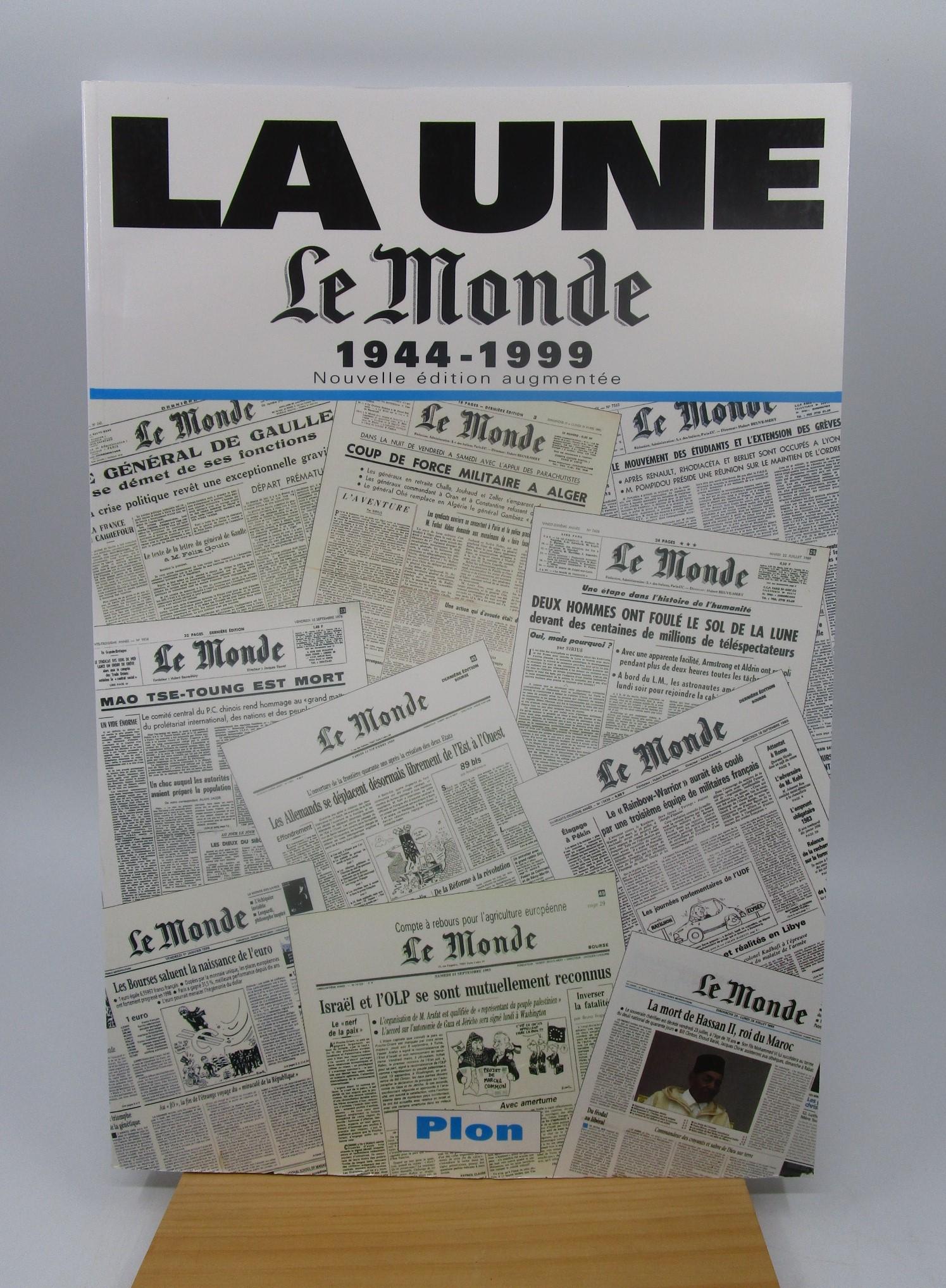 Image for La une, Le monde, 1944-1999