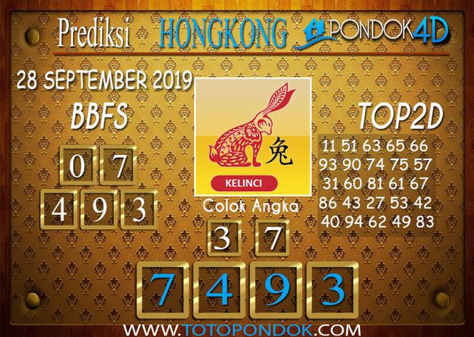Prediksi Togel HONGKONG PONDOK4D 27 SEPTEMBER 2019