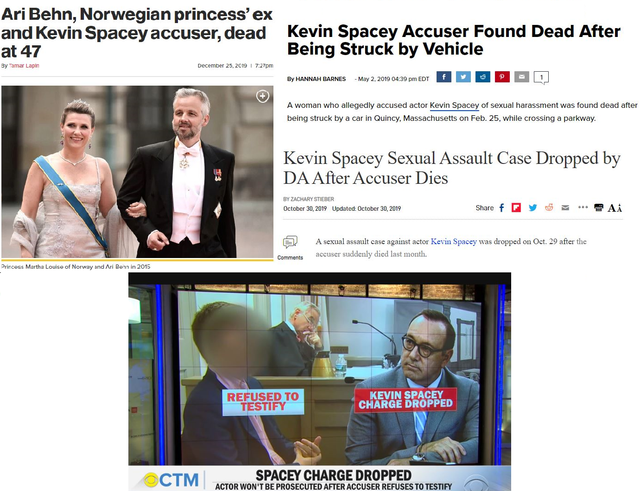 Three Accusers of Kevin Spacey Silenced