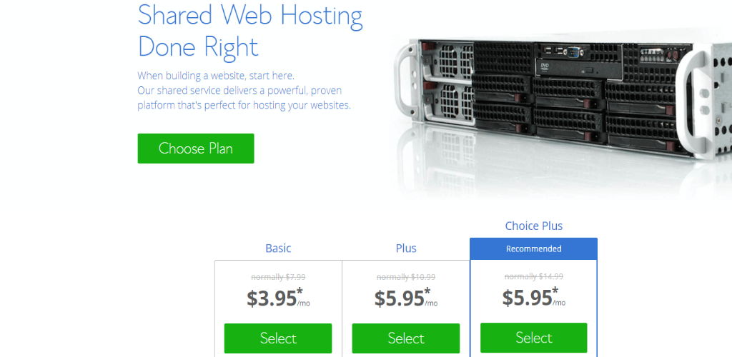Web Hosting Examples