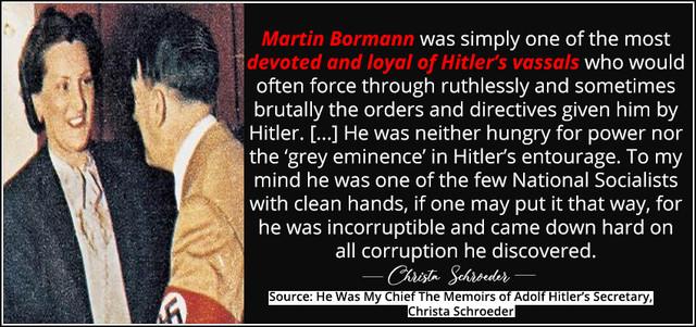 Christa-scho-about-martin-bormann