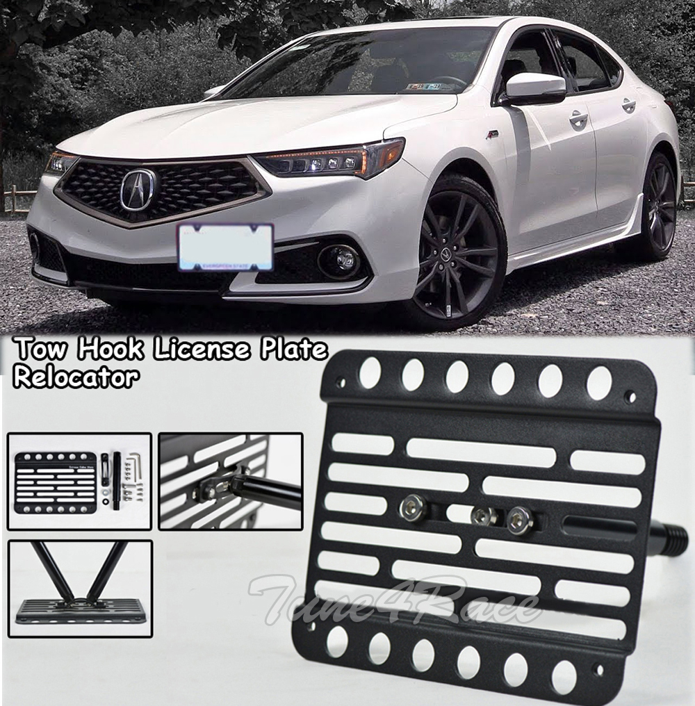 For 18-Up Acura TLX Front Bumper Tow Hook License Plate