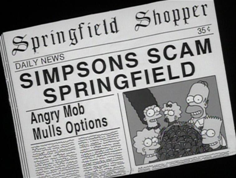 Periódico de los Simpsons