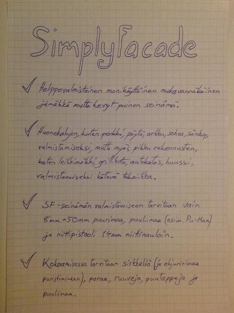SimplyFacade -seinämä (sivu 1)