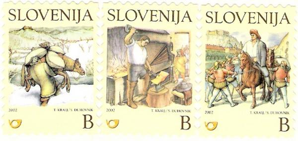 Slovenia stamps CHILDERN-BOOK-ILUSTRATION