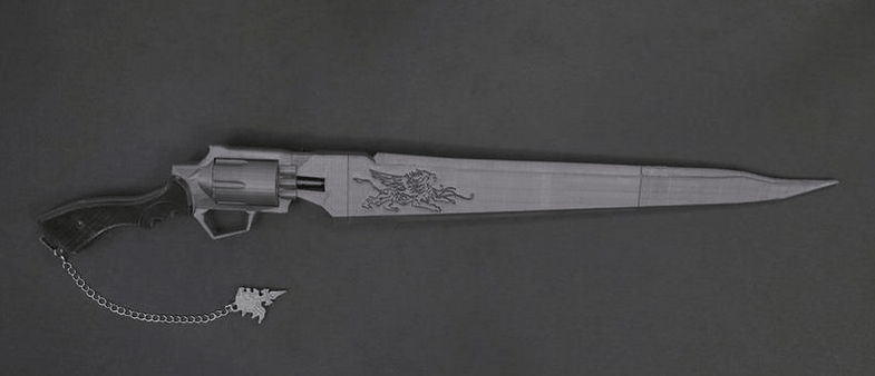 Squall Leonhart's Gunblade From Final Fantasy VIII
