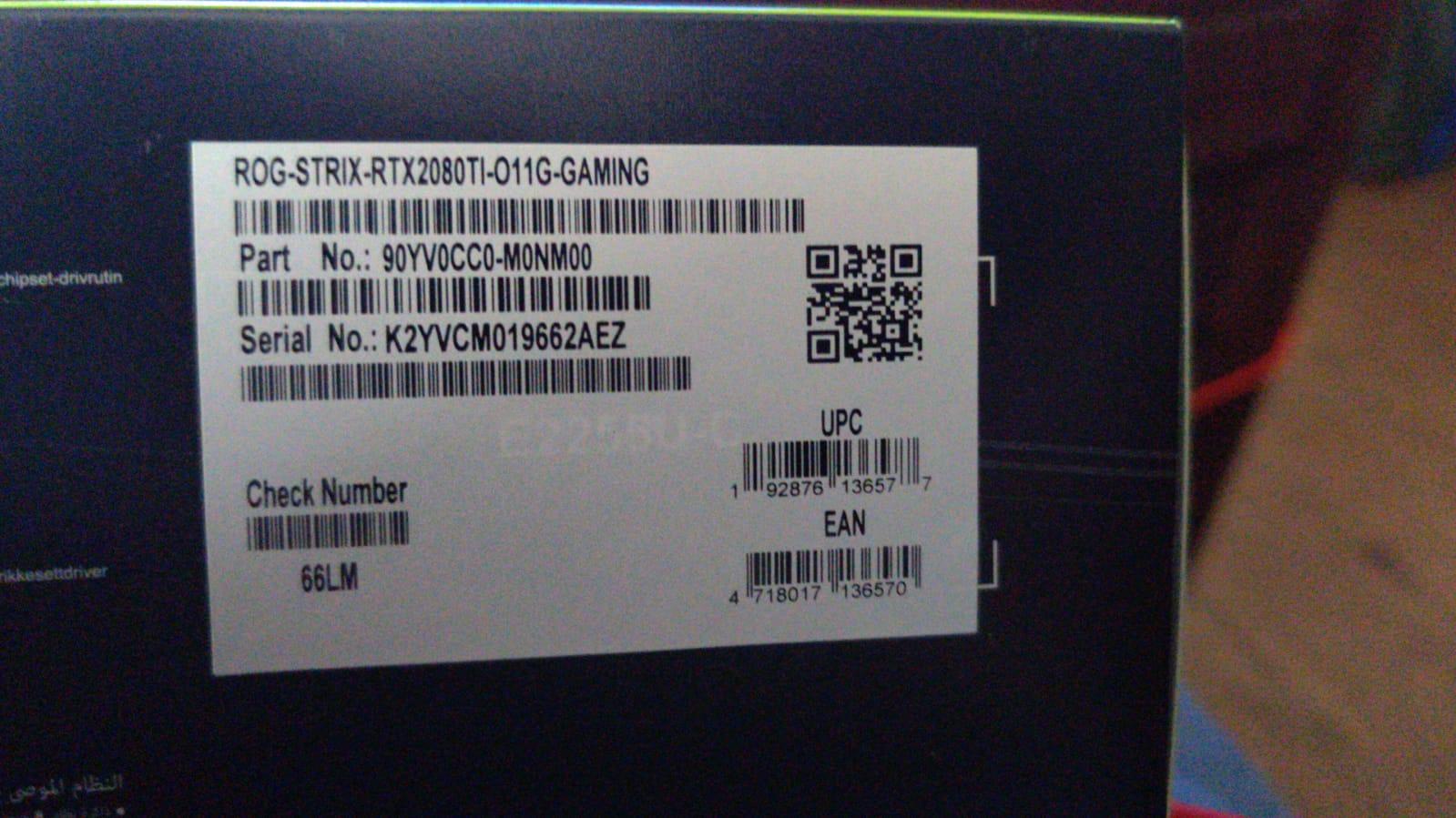 Asus Strix OC RTX 2080 Ti