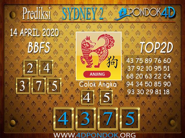 Prediksi Togel SYDNEY 2 PONDOK4D 14 APRIL 2020