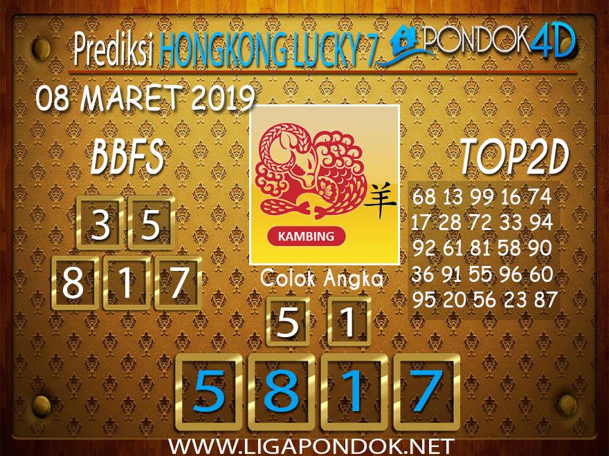 Prediksi Togel HONGKONG LUCKY 7 PONDOK4D 08 MARET 2019