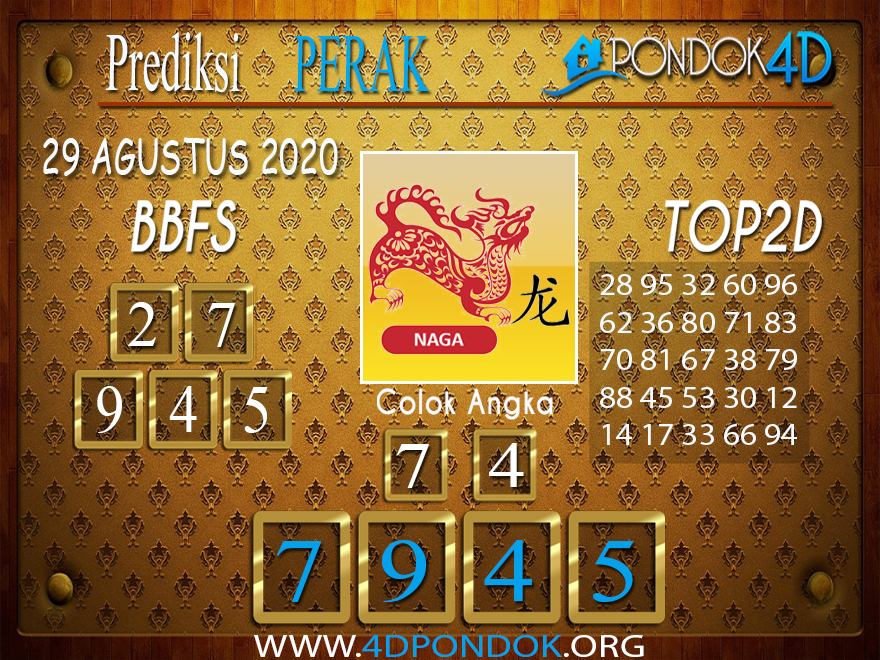 Prediksi Togel PERAK PONDOK4D 29 AGUSTUS 2020