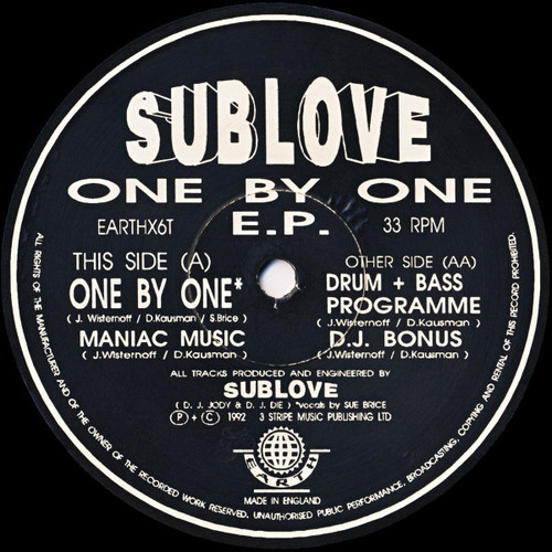 Sublove - One By One E.P. 1992