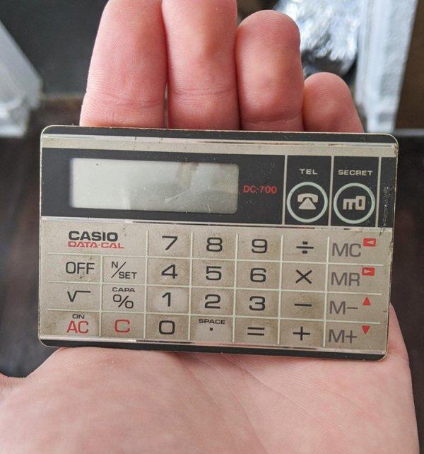 Старый отцовский калькулятор 1986 года