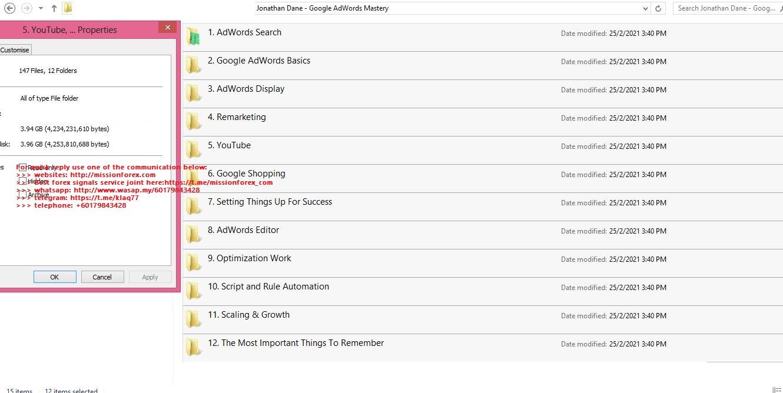Jonathan Dane - Google AdWords Mastery
