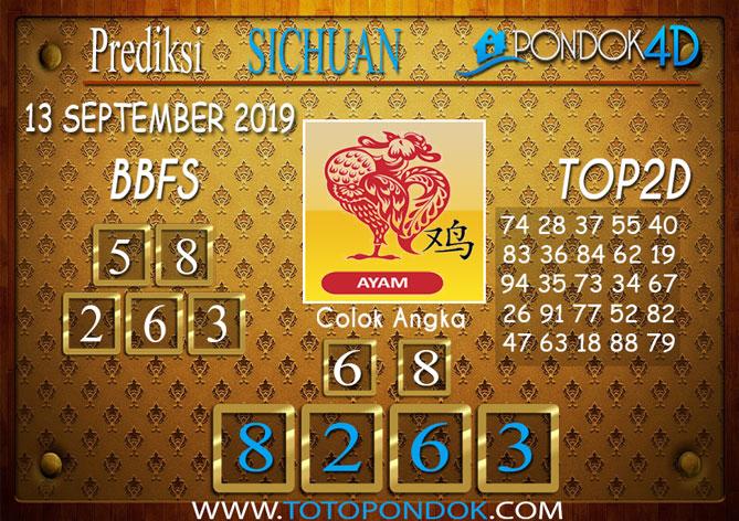 Prediksi Togel SICHUAN PONDOK4D 13 SEPTEMBER 2019