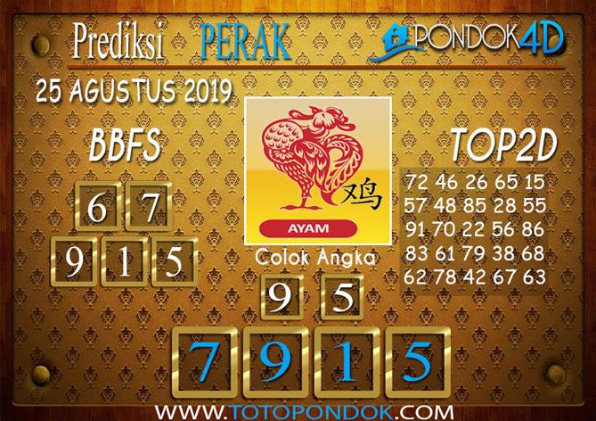 Prediksi Togel PERAK POOLS PONDOK4D 25 AGUSTUS 2019