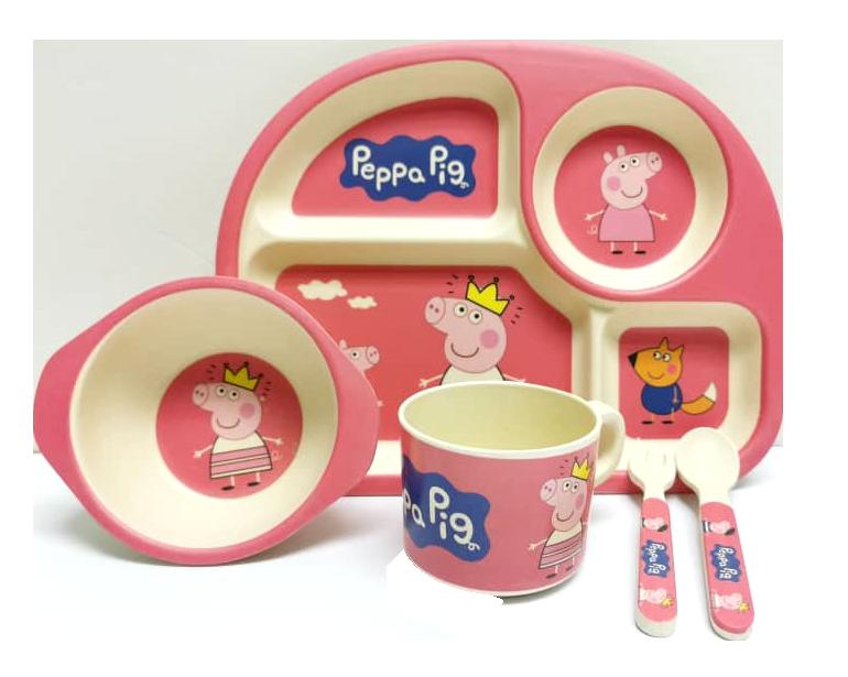 Chooice-Peppapig-Pink-Bamboofiber-Tableset