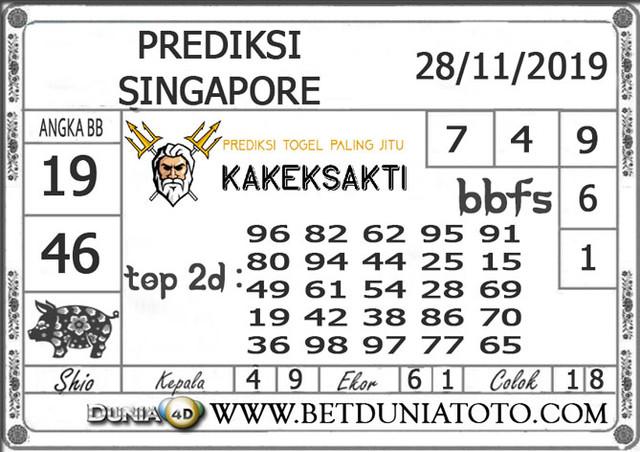 PREDIKSI TOGEL SINGAPORE PANTAI4D 28 NOVEMBER 2019