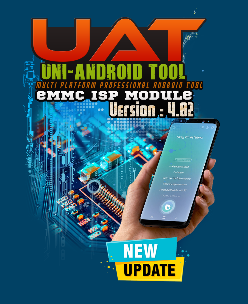 Uni-Android Tool [UAT] eMMC ISP MODULE Version 4.02 - 28th July 2020