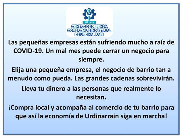 Locales: Comunicado del Centro de Defensa Comercial por la afectación que sufren los negocios debido a la situación de salud
