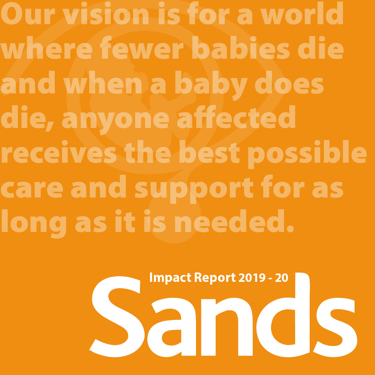 Sands Impact report 2019-2020 cover photo