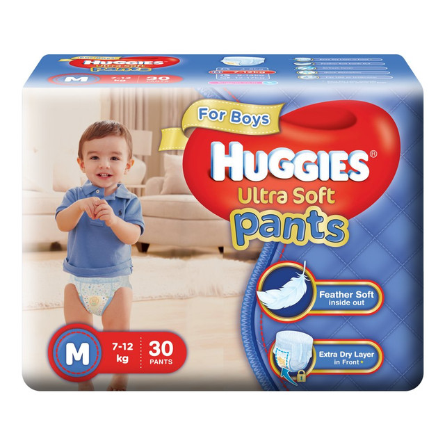 Offer on Huggies Ultra Soft Pants Diapers for Boys, Medium (Pack of 30)