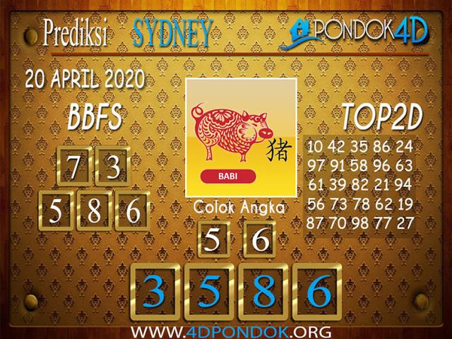 Prediksi Togel SYDNEY PONDOK4D 20 APRIL 2020