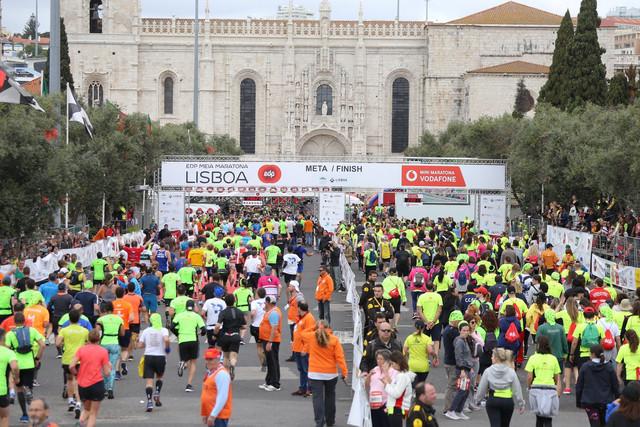 Meta Medio Maratón Lisboa Travelmarathon.es