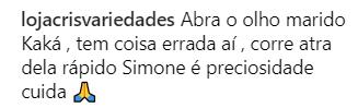 Após Simone avisar que se afastaria das redes sociais, marido da cantora faz desabafo e recebe alerta de seguidores
