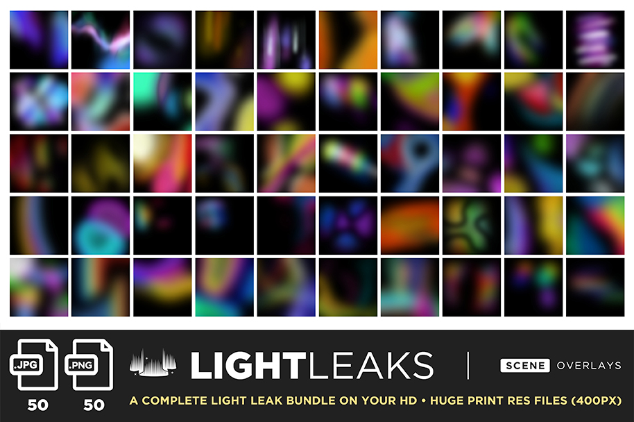 ultimate light fx bundle overlays light leaks