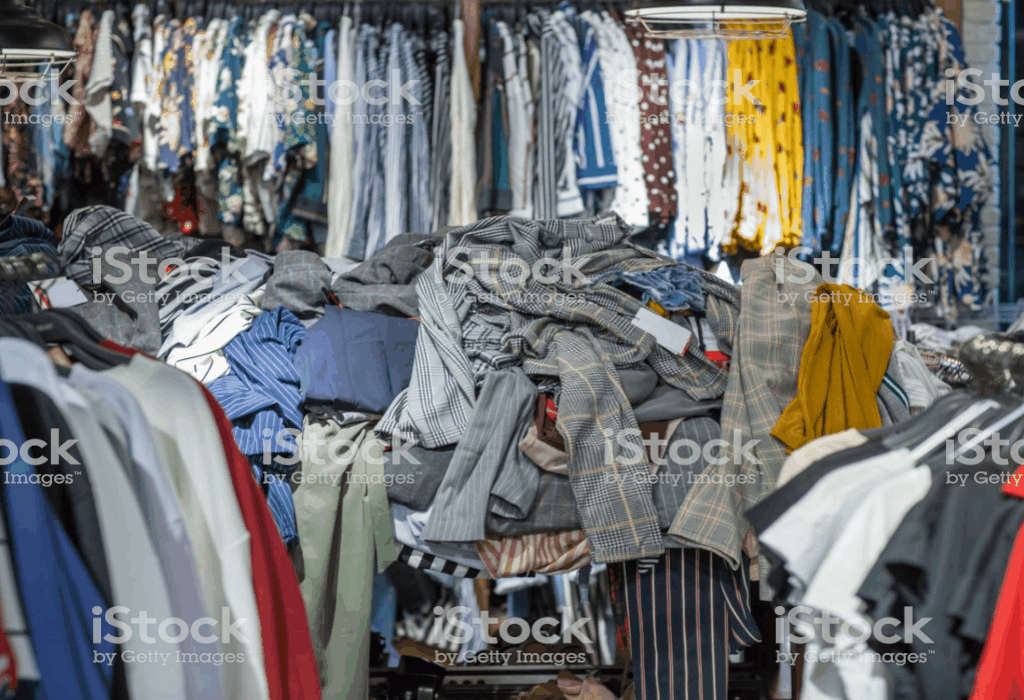 Collection Clothes After Shopping