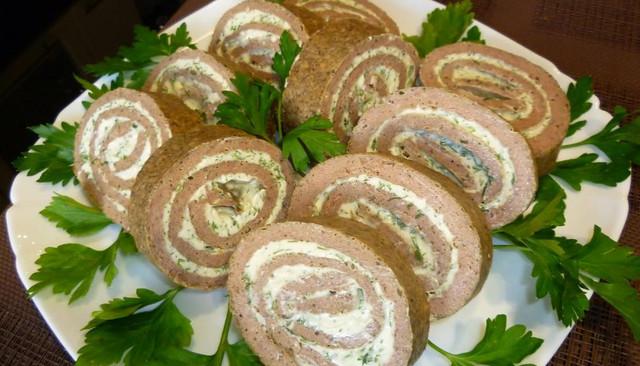 печёночный рулет из говяжьей печени рецепт пошагово с фото