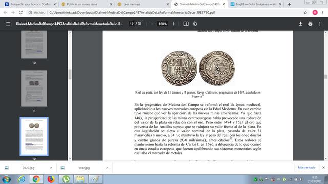 Duda moneda reyes católicos pre pragmática o post. Ww