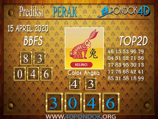 Prediksi Togel PERAK PONDOK4D 15 APRIL 2020