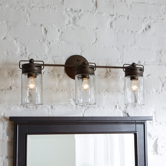 Aged Bronze Mason Jar Wall