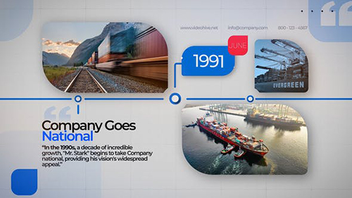 Business Company Timeline 31887364 - Project for After Effects (Videohive)