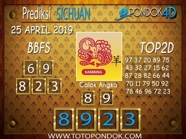 Prediksi Togel SICHUAN PONDOK4D 25 APRIL 2019