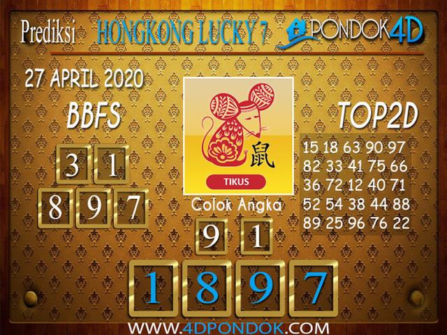 Prediksi Togel HONGKONG LUCKY 7 PONDOK4D 27 APRIL 2020
