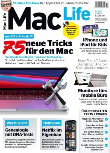 Cover: Mac Life Magazin No 10 Oktober 2021