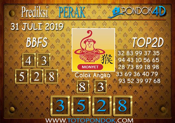 Prediksi Togel PERAK POOLS PONDOK4D 31 JULI 2019