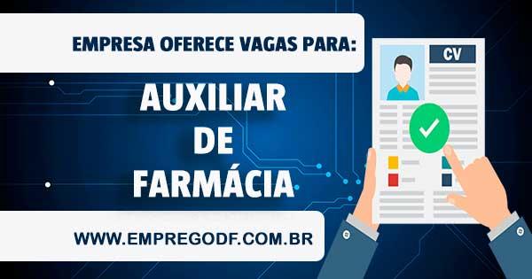 EMPREGO PARA AUXILIAR DE FARMÁCIA