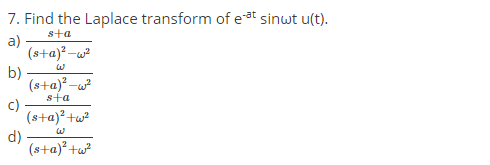 Find-the-Laplace-transform-of-e-at-sin-t-u-t